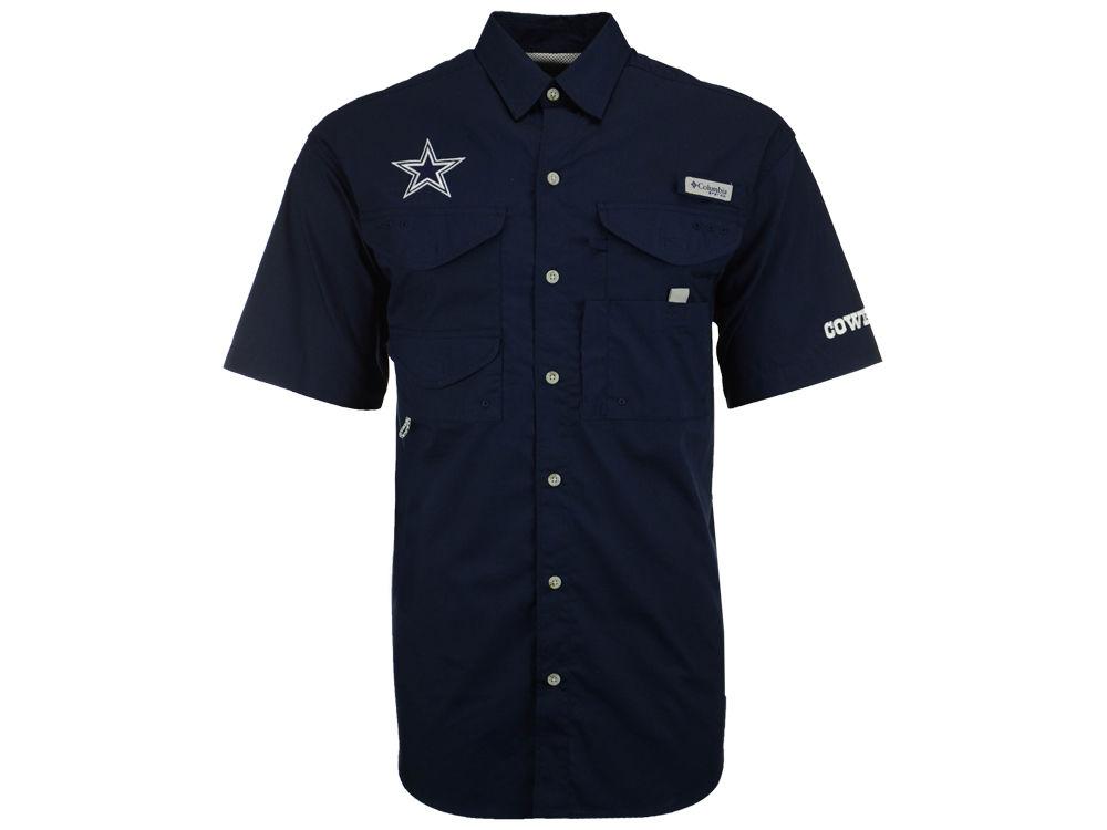 17174183a7 60%OFF Dallas Cowboys Columbia NFL Men's Bonehead Short Sleeve Button Down  Shirt outlet Men's Carolina Panthers Nike Black Team Stripe T-Shirt