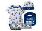 Indianapolis Colts NFL Newborn 3 Pc Set Bib and Cap Set Infant Apparel