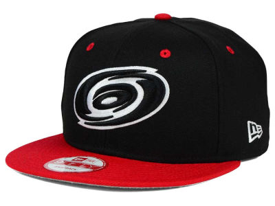 Carolina Hurricanes NHL Black White Team Color 9FIFTY Snapback Cap Hats