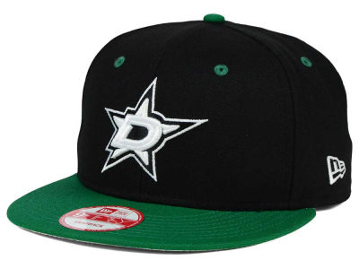 Dallas Stars NHL Black White Team Color 9FIFTY Snapback Cap Hats