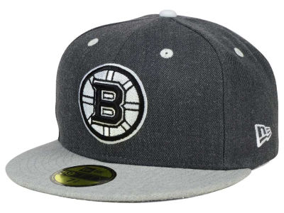 Boston Bruins NHL Graph on Heather 59FIFTY Cap Hats