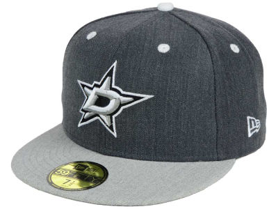 Dallas Stars NHL Graph on Heather 59FIFTY Cap Hats