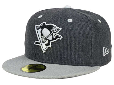 Pittsburgh Penguins NHL Graph on Heather 59FIFTY Cap Hats