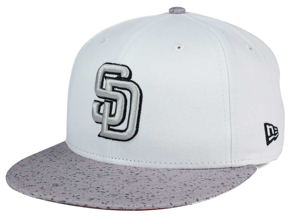 7645704aa28 free shipping San Diego Padres New Era MLB Cement Hook 9FIFTY Snapback Cap