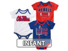 Ole Miss Rebels Outerstuff NCAA Infant 3 Points 3-Piece Creeper Set Infant Apparel