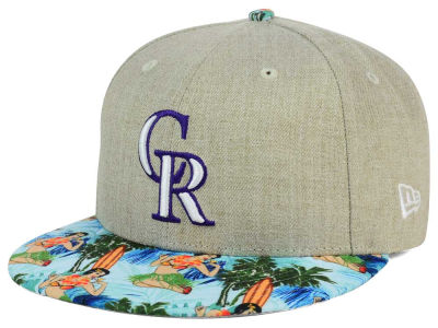 Colorado Rockies MLB Vacation Vize Snapback Cap Hats