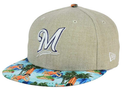 Milwaukee Brewers MLB Vacation Vize Snapback Cap Hats