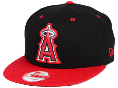 Los Angeles Angels MLB Beveled Rubber Logo 9FIFTY Snapback Cap Hats