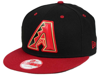 Arizona Diamondbacks MLB Beveled Rubber Logo 9FIFTY Snapback Cap Hats