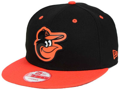Baltimore Orioles MLB Beveled Rubber Logo 9FIFTY Snapback Cap Hats