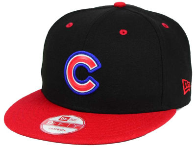 Chicago Cubs MLB Beveled Rubber Logo 9FIFTY Snapback Cap Hats