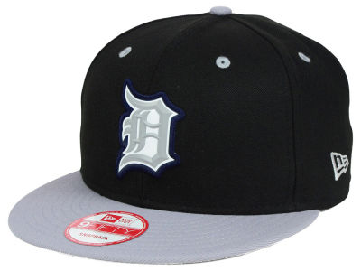 Detroit Tigers MLB Beveled Rubber Logo 9FIFTY Snapback Cap Hats