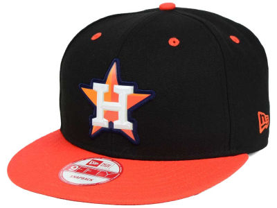 Houston Astros MLB Beveled Rubber Logo 9FIFTY Snapback Cap Hats