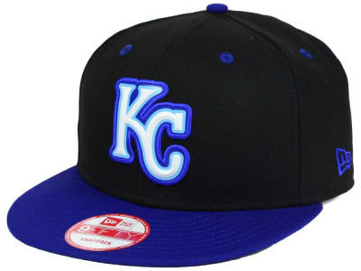 Kansas City Royals MLB Beveled Rubber Logo 9FIFTY Snapback Cap Hats