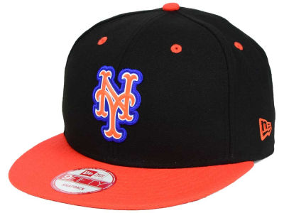 New York Mets MLB Beveled Rubber Logo 9FIFTY Snapback Cap Hats