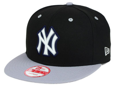 New York Yankees MLB Beveled Rubber Logo 9FIFTY Snapback Cap Hats