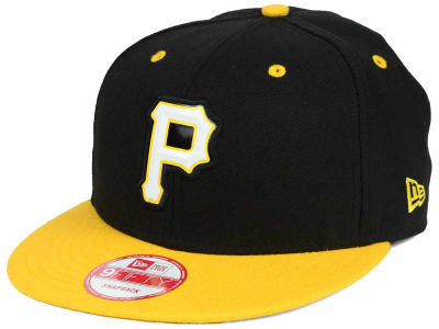 Pittsburgh Pirates MLB Beveled Rubber Logo 9FIFTY Snapback Cap Hats