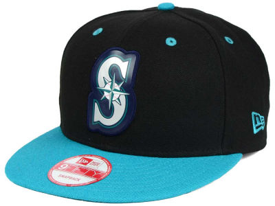 Seattle Mariners MLB Beveled Rubber Logo 9FIFTY Snapback Cap Hats