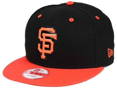 San Francisco Giants MLB Beveled Rubber Logo 9FIFTY Snapback Cap Hats