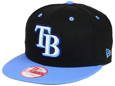 Tampa Bay Rays MLB Beveled Rubber Logo 9FIFTY Snapback Cap Hats