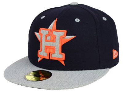 Houston Astros MLB Full Heather XL Logo 59FIFTY Cap Hats