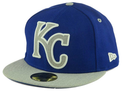 Kansas City Royals MLB Full Heather XL Logo 59FIFTY Cap Hats
