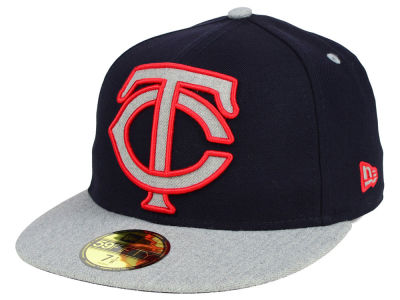 Minnesota Twins MLB Full Heather XL Logo 59FIFTY Cap Hats