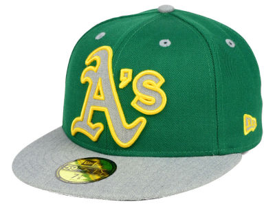 Oakland Athletics MLB Full Heather XL Logo 59FIFTY Cap Hats