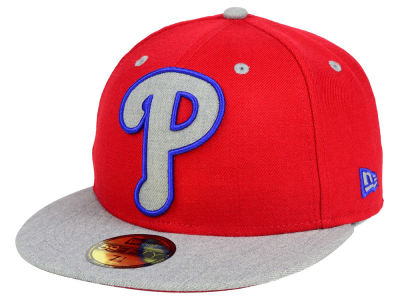 Philadelphia Phillies MLB Full Heather XL Logo 59FIFTY Cap Hats