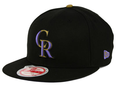 Colorado Rockies MLB Goldie Logo 9FIFTY Snapback Cap Hats