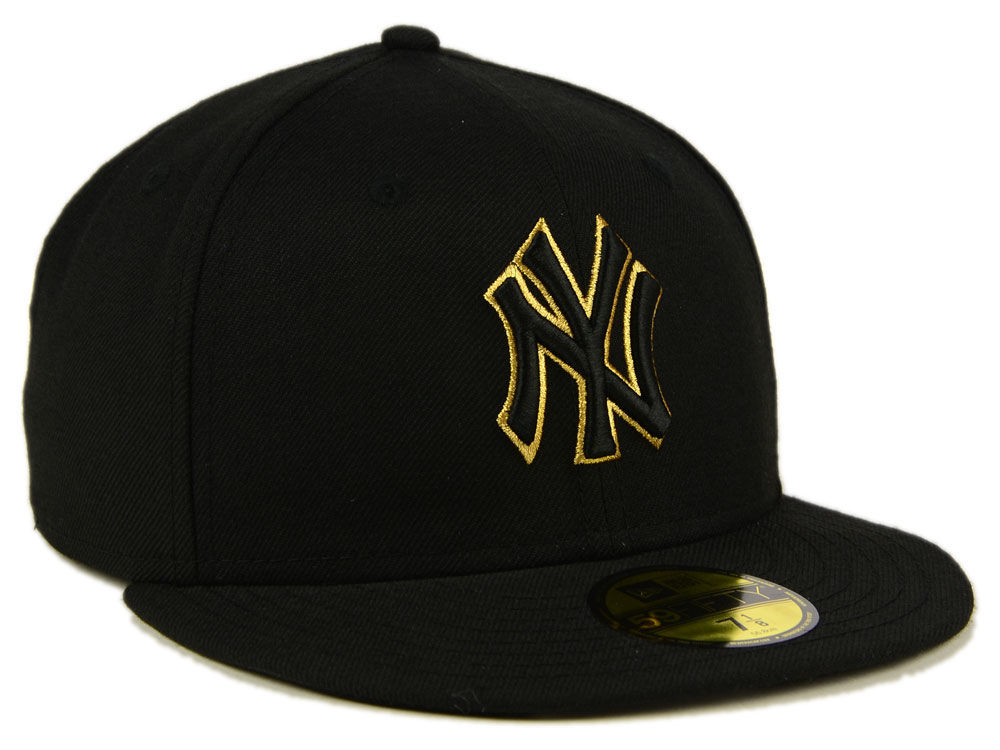 b22dbeb06fe3d2 ... coupon code for good new york yankees new era mlb black on metallic  gold 59fifty cap