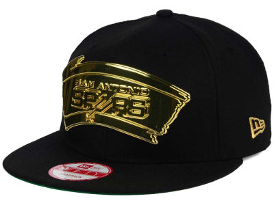San Antonio Spurs NBA HWC League O'Gold 9FIFTY Snapback Cap Hats