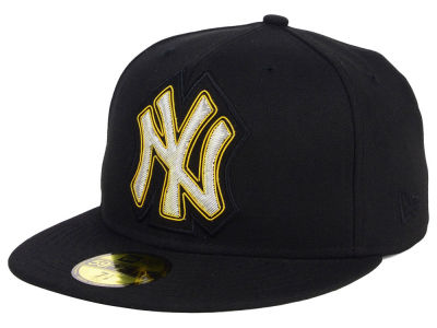 New York Yankees MLB Beaded Logo 59FIFTY Cap Hats