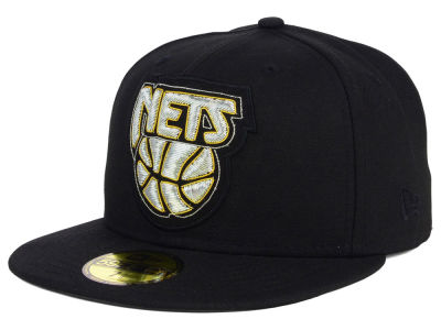Brooklyn Nets NBA HWC Beaded Logo 59FIFTY Cap Hats