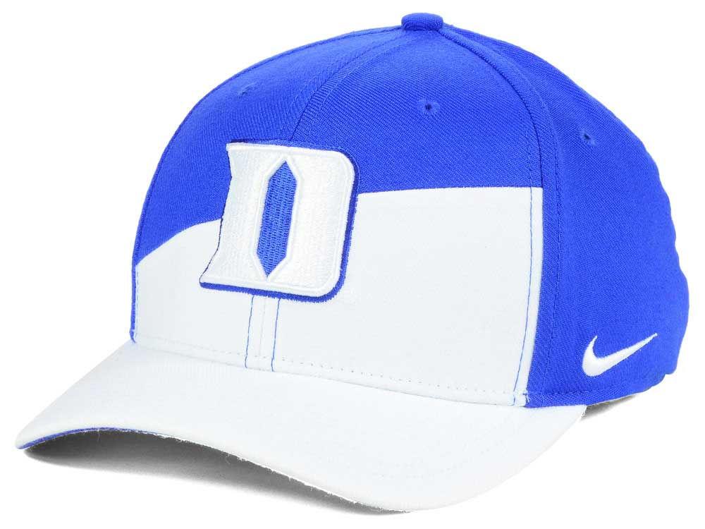 buy online 75f8c 9d7ac well-wreapped Duke Blue Devils Nike NCAA Verbiage Swoosh Flex Cap