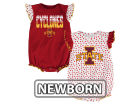 Iowa State Cyclones Outerstuff NCAA Newborn Girls Polka Fan Set Outfits