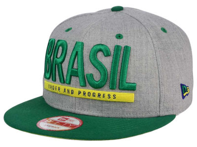 Brazil Flag Phrase 9FIFTY Snapback Cap Hats
