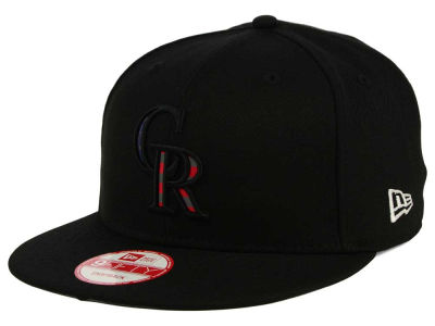 Colorado Rockies MLB America Team Logo 9FIFTY Snapback Cap Hats
