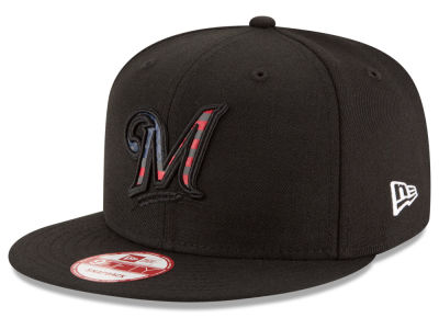 Milwaukee Brewers MLB America Team Logo 9FIFTY Snapback Cap Hats