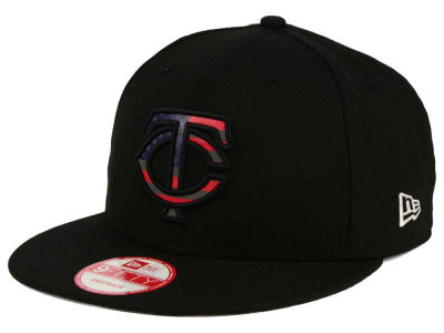 Minnesota Twins MLB America Team Logo 9FIFTY Snapback Cap Hats