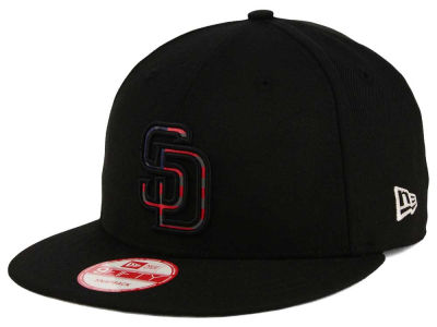 San Diego Padres MLB America Team Logo 9FIFTY Snapback Cap Hats