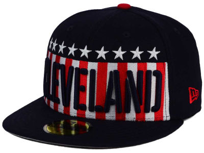 Cleveland Indians MLB Big USA 59FIFTY Cap Hats