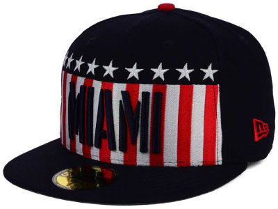 Miami Marlins MLB Big USA 59FIFTY Cap Hats