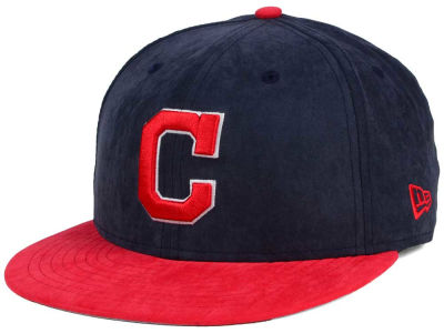 Cleveland Indians MLB Summer Suede 9FIFTY Snapback Cap Hats