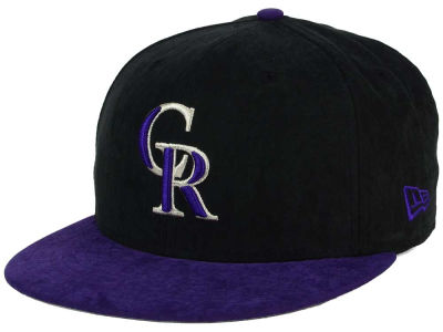 Colorado Rockies MLB Summer Suede 9FIFTY Snapback Cap Hats