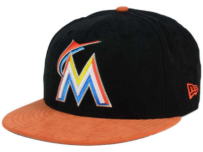 Miami Marlins MLB Summer Suede 9FIFTY Snapback Cap Hats