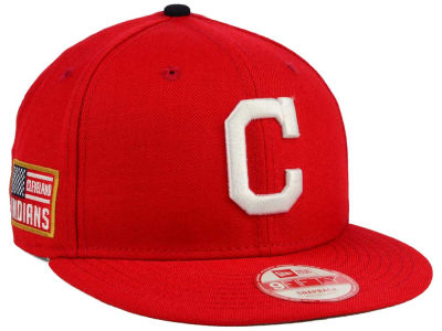 Cleveland Indians MLB All American Patch 9FIFTY Snapback Cap Hats