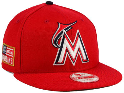 Miami Marlins MLB All American Patch 9FIFTY Snapback Cap Hats