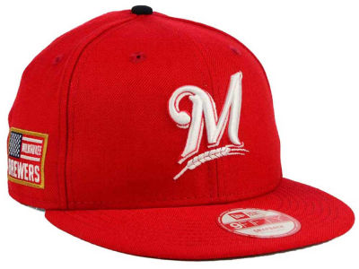 Milwaukee Brewers MLB All American Patch 9FIFTY Snapback Cap Hats