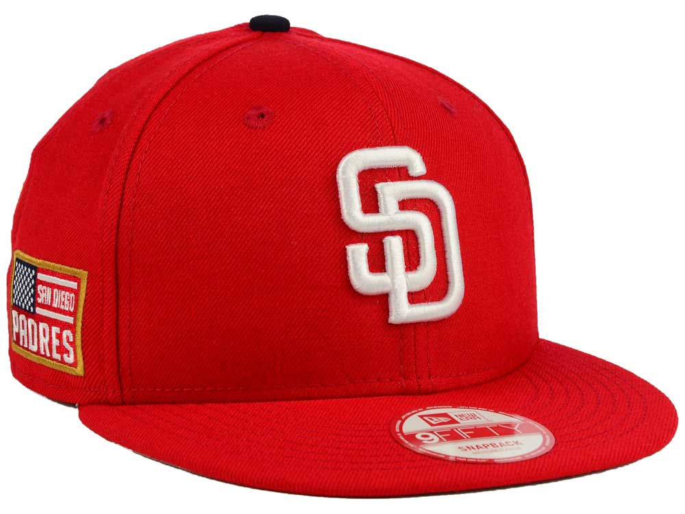 best service a872c 65332 San Diego Padres New Era MLB All American Patch 9FIFTY Snapback Cap free  shipping